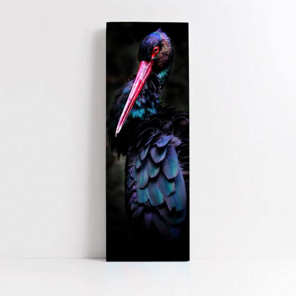 quadro in tela verticale rapporto 1:3 con cornice sottile o spessa