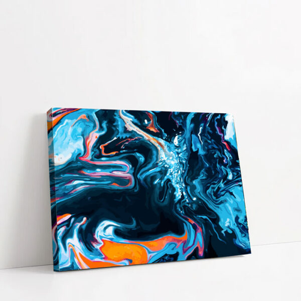 quadro in tela orizzontale rapporto 3:2 con cornice spessa